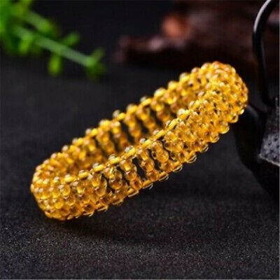 Men Women Unisex Hand-Woven Braided Hair Crystal Elasticbracelet Buddhism