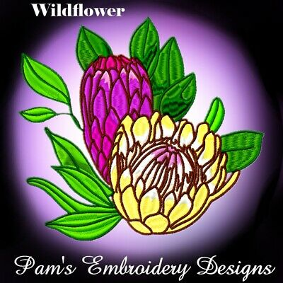 WILDFLOWERS 20  MACHINE EMBROIDERY DESIGNS CD or USB
