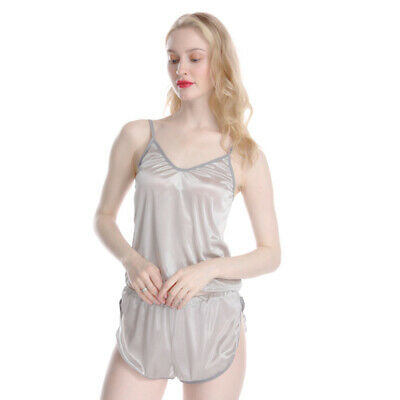 Ladies Shorts Vest Cami Tops Top Shorts Pyjamas Set Cosy Sexy Nightwear Set LA