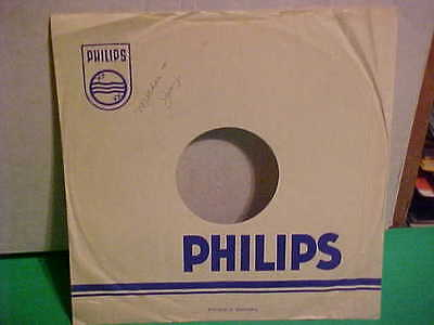 """Original Vintage """"Philips"""" Germany Sleeve Only No Record 10 Inch"""
