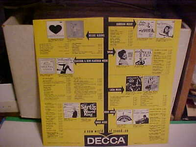 Original Vintage Decca Records Inner Sleeve Art Only No Record 12 Inch Yellow