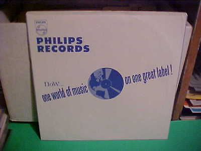 """Original Vintage Rare """"Philips"""" Usa Inner Sleeve Only No Record 12 Inch Blue"""