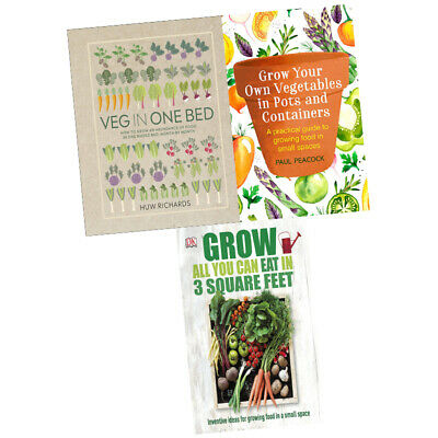 Veg in One Bed,Grow Your Own Vegetables,Grow All You Can 3 Books Collection Set