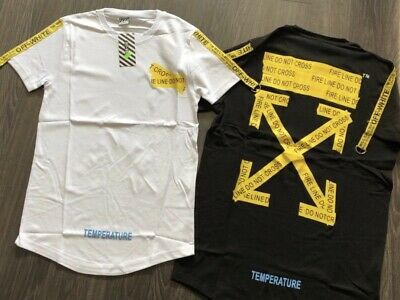 Off white short sleeved summer T-shirt men women trend men's clothing hip hop