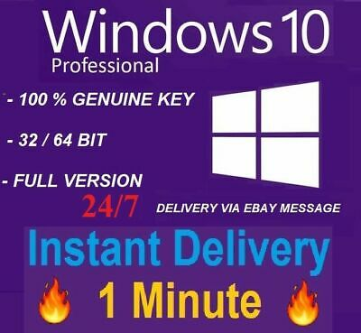 Windows 10 Pro Professional 32/64 Bit Genuine Key WIN 10 PRO INSTANT Product key