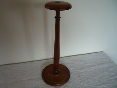 Vtg Turned Wood Millinery Hat Stand Shop Window Display Prop Chic Home Interior