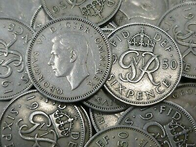 1950 George VI Old Lucky Sixpences In Bulk ideal for anniversaries Any Quantity