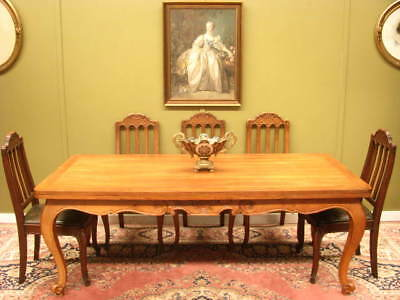 Lge Vintage French Walnut Extension Dining Table ~ Extends To 3 Metres, Seats 12