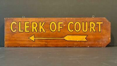 Clerk Of Court Double-sided Sign, Early 20th C