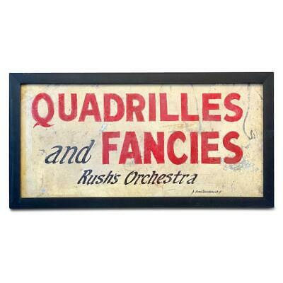 QUADRILLES AND FANCIES… Trade Sign, c. 1880