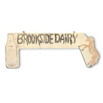 BROOKSIDE DAIRY New York trade sign, early 20th c