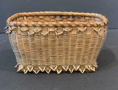 New England finely woven Basket, c. 1900