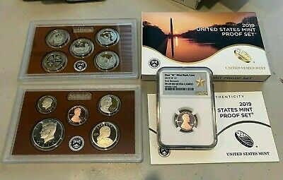 "2019 11 COIN PROOF SET w/ lincoln ""W"" penny NGC PF69RD ULTRACAM Early Releases"