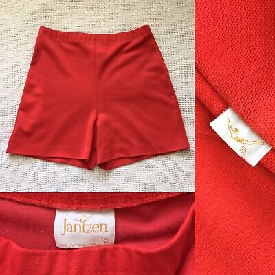 60's Vintage JANTZEN LOGO Orange High Waist Shorts Back Pocket S to M Vintage 12