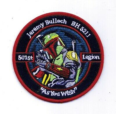Star Wars 501st Honorary Member Boba Fett Jeremy Bulloch Logo Embroidered Patch
