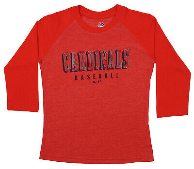 Majestic MLB Youth St. Louis Cardinals Baseball Academy 3/4 Sleeve Raglan Tee