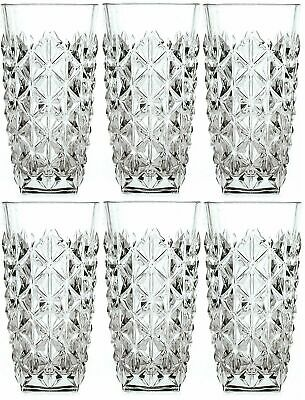 Set Of 6X RCR Italian Crystal Enigma Highball Tumbler Glasses 400ml --Brand New