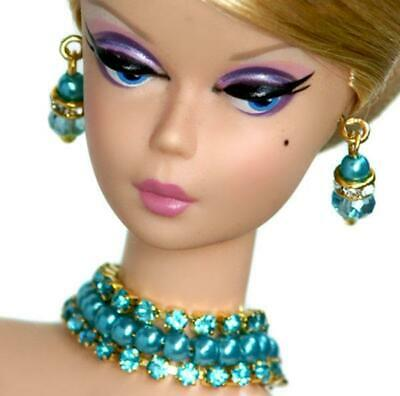 Handmade doll jewelry necklace earrings fits Barbie dolls #061
