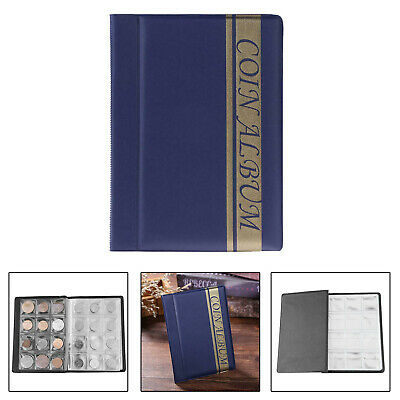 120 Pockets Coins Album Collection Coin Storage Holders Commemorative Album Book