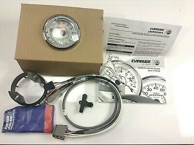 "BRP Evinrude  4"" White Face Tachometer Kit With LCD    BRP # 768004"