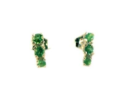 Alexandrite Earrings 1/3ct Antique 19thC Russia Natural Color-Change Genuine 925