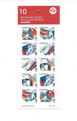 "Canada Vancouver Winter Olympics 10 ""P"" Stamps Sporting Events Mnh Pane 2010"
