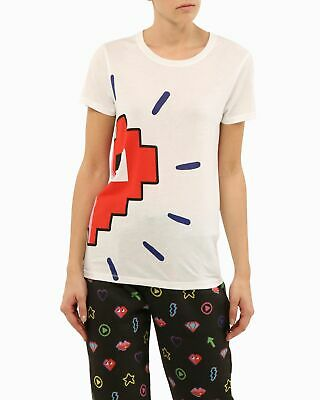 T-shirt con cuore stile video-game Ice Play Bianco I 70%LYOCELL 30%COTONE