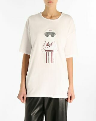 T-shirt oversize ICE PLAY con paillettes Ice Play Bianco E 100%COTONE