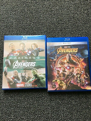 The Avengers Trilogy BLU-RAY Set. Avengers: Age of Ultron, Infinity War.2 3