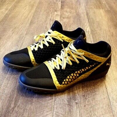 8a4d27192 Brand New PUMA 365 Ignite Netfit Indoor Soccer Shoes Gold Mens size 10.5  1447409