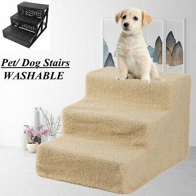 3 Steps Dog Pet Stairs Indoor Ramp Portable Folding Animal Cat Ladder with Cover