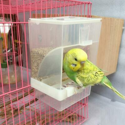 Bird Feeder No Mess Automatic Seed Feeder Cage Parrot Canary Cockatiel