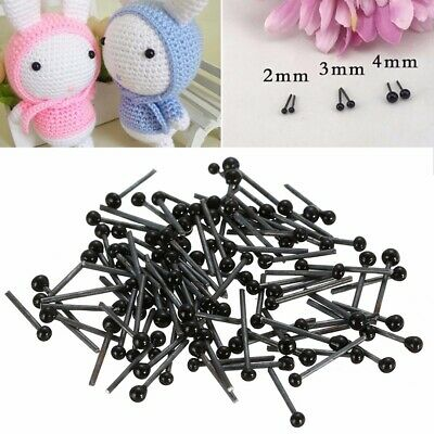 150 Pairs New Glass Safety Eyes For Teddy Bear Dolls Animal Making 2/3/4mm