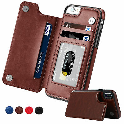 Apple iPhone X XS MAX 8 PLUS XR Case Flip Leather Wallet Card Shockproof Cover