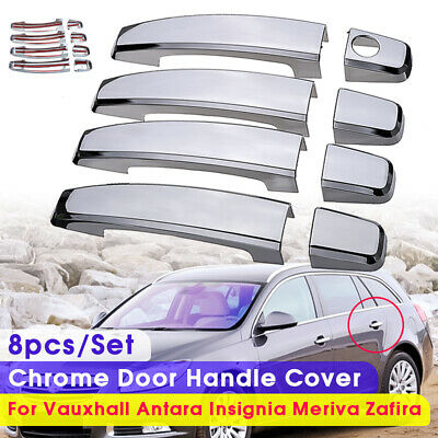 8pcs Set ABS Chrome Door Handle Cover For Vauxhall Antara Insignia Meriva Zafira