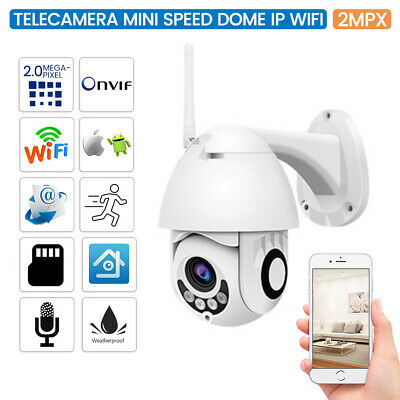 Telecamera Wifi Ip Mini Speed Dome Da Esterno Ip66 2 Mpx 1080p Registra TF Card