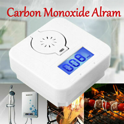 LCD CO Carbon Monoxide&Smoke Detector Alarm Poisoning Gas Warning Sensor