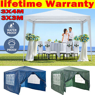 Gazebo Marquee Party Tent Waterproof Garden Gazebo Patio Outdoor Canopy+Sidewall