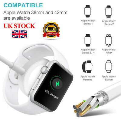 For Apple Watch iWatch 4/3/2/1 Magnetic Charger Charging Pad Cable 38mm 42mm