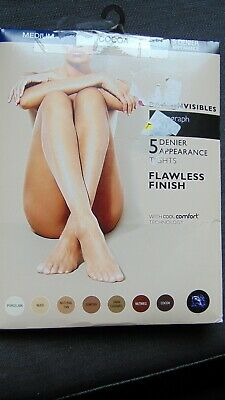 M/&S AUTOGRAPH BARE INVISIBLES SHEER TOE COMFORT FIT TIGHTS NUDE S M