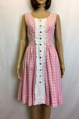 True Vintage 1950s 60s Rare Dress Size 8 Alice Dorothy Cosplay Costume Collector