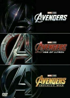 AVENGERS 1-3 DVD Trilogy Boxset Collection Assemble, Age of Ultron, Infinity War