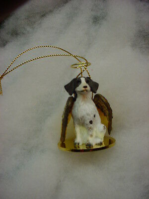 BRITTANY Spaniel DOG ANGEL Ornament HANDPAINTED Resin FIGURINE liver brown puppy