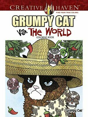 Creative Haven Grumpy Cat Vs. The World Coloring Book by Diego Jourdan Pereira