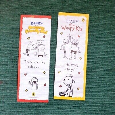 Diary of an Awesome Friendly Kid, 2 x bookmarks