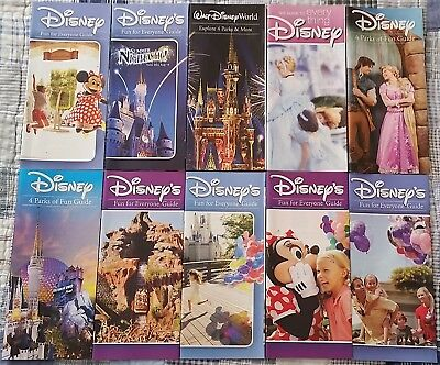 Walt Disney World Fun For Everyone Guide Huge Lot Of 10 Different Guidebooks