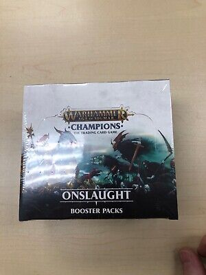 Warhammer Age of Sigmar: Champions Onslaught Booster Box CCG (Sealed)