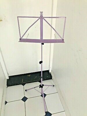 Music Stand Pink Kinsman Deluxe Quality Adjustable Height Sturdy Construction