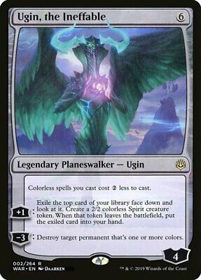1 Ugin, the Ineffable - Colorless War of the Spark Mtg Magic Rare 1x x1