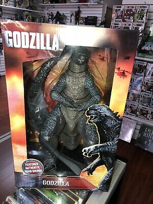 "Godzilla with Authentic Roar Sound 2014 NECA Reel Toys 12"" inches"